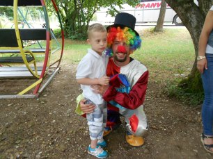 Boy and Clown