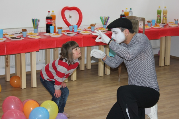 Child and Mime