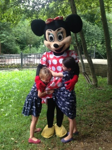 Girls and Minnie Mouse